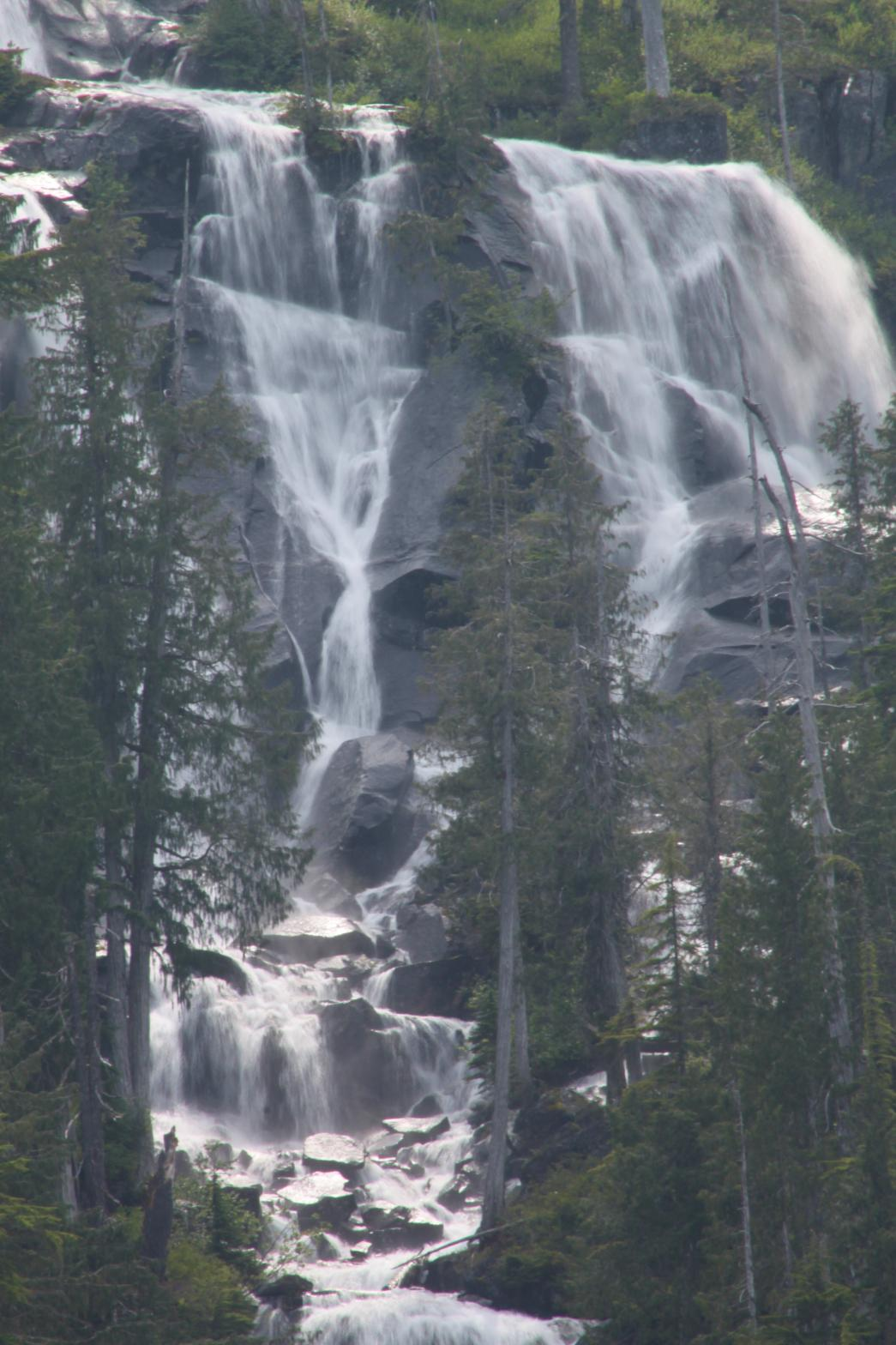 Close up of part of Big Heart Falls