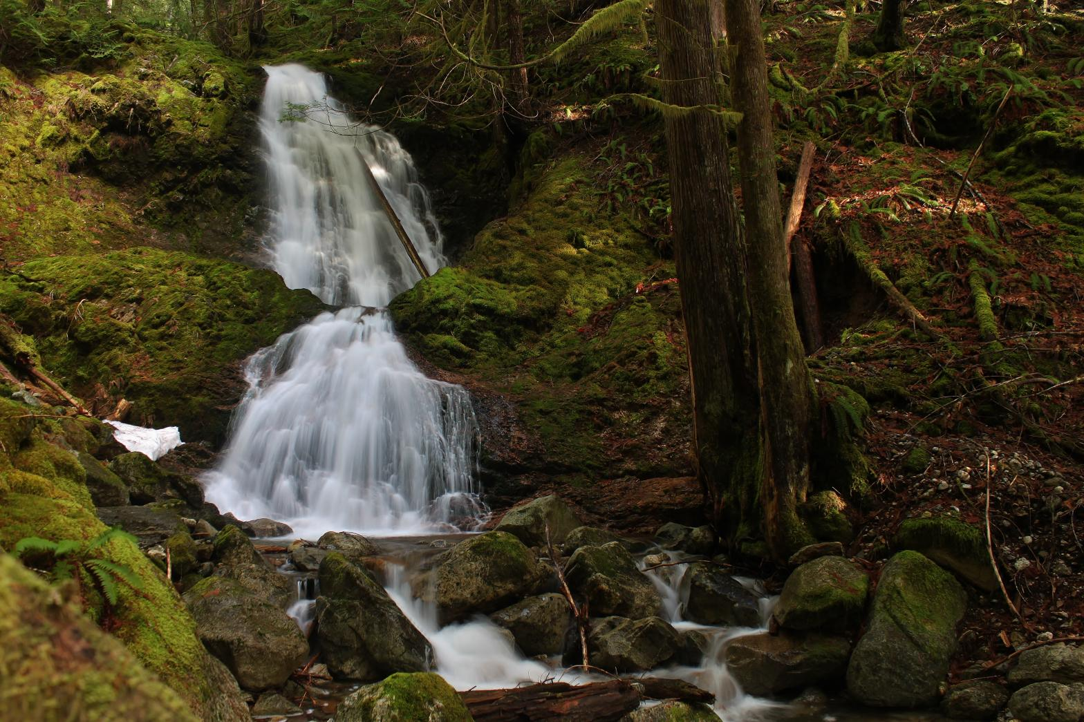 Horizontal View of Bucket Creek Falls