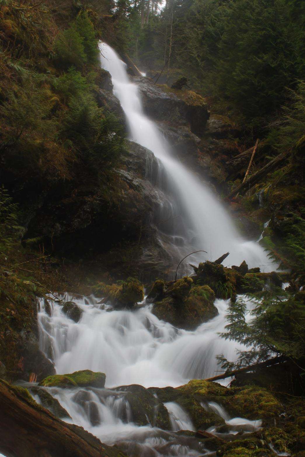 Misty main tier of Change Creek Falls