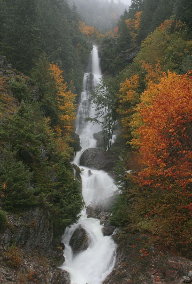 Autumn at Ketchum Creek Falls