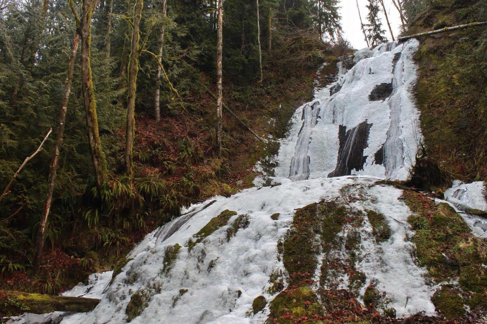 Icy Silver Falls in the winter